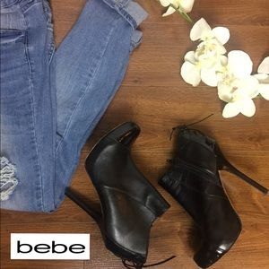 bebe black booties